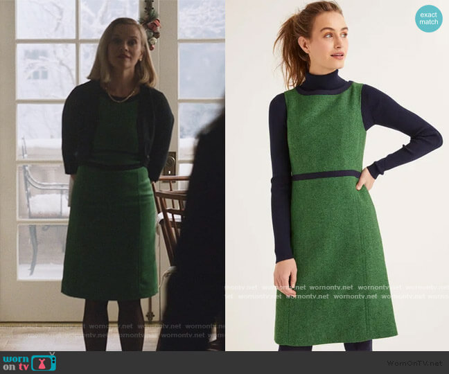 Carrie Tweed Dress by Boden worn by Elena Richardson (Reese Witherspoon) on Little Fires Everywhere