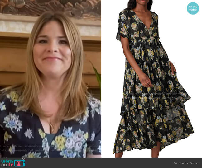Floral Printed Quintina Dress by Brock Collection worn by Jenna Bush Hager  on Today