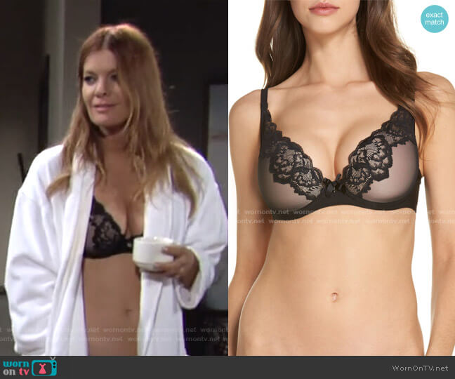 Chantelle Intimates Lace Underwire Plunge Bra by Chantelle Lingerie worn by Phyllis Summers (Michelle Stafford) on The Young & the Restless
