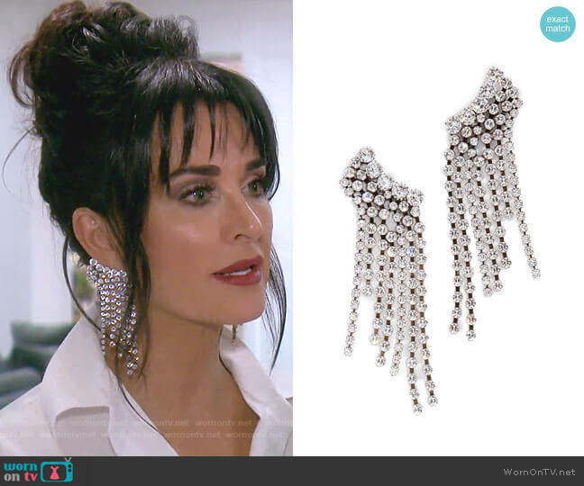 Chandelier Earrings by Isabel Marant worn by Kyle Richards  on The Real Housewives of Beverly Hills