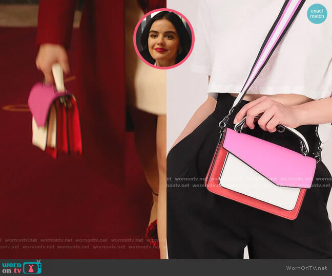 Cobble Hill Crossbody in Colorblock by Botkier worn by Katy Keene (Lucy Hale) on Katy Keene