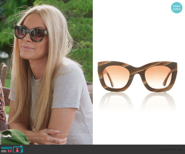 Concubiny Cat-Eye Acetate Sunglasses by Thierry Lasry worn by Leah McSweeney  on The Real Housewives of New York City