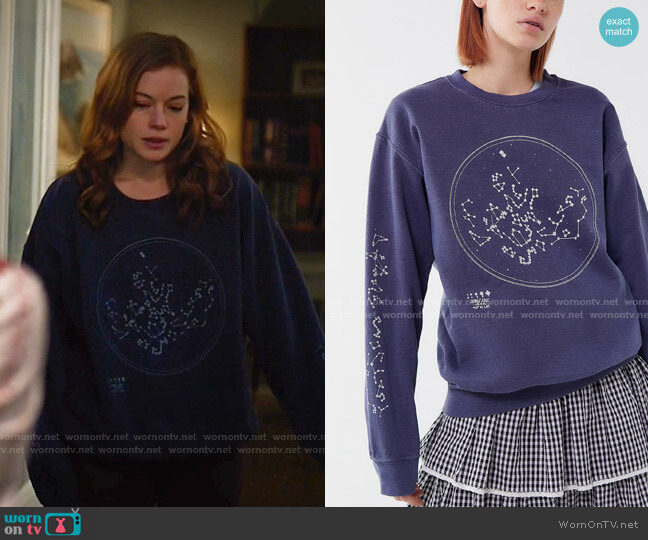 Constellation Pullover Sweatshirt by Project Social T  worn by Zoey Clarke (Jane Levy) on Zoeys Extraordinary Playlist