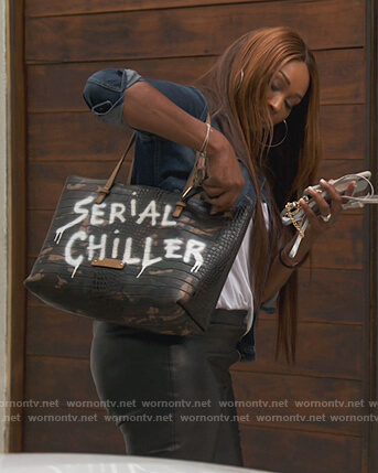 Cynthia's Serial Chiller leather bag on The Real Housewives of Atlanta