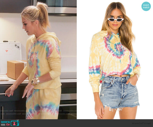 X REVOLVE Tie Dye Hoodie by Daydreamer worn by Tinsley Mortimer  on The Real Housewives of New York City