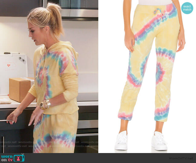 X REVOLVE Tie Dye Pant by Daydreamer worn by Tinsley Mortimer  on The Real Housewives of New York City