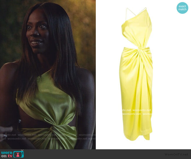 Diverge Drape Dress by Dion Lee worn by Molly Carter (Yvonne Orji) on Insecure