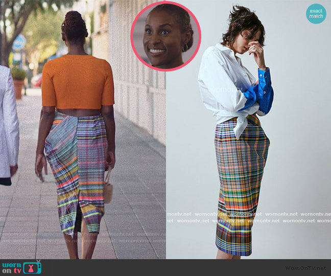 Multi Plaid Skirt by Dries Van Noten worn by Issa Dee (Issa Rae) on Insecure