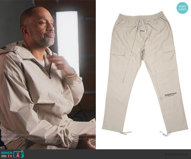 Fear of God Nylon Cargo Pants by Essentials worn by Kenya Barris  on BlackAF