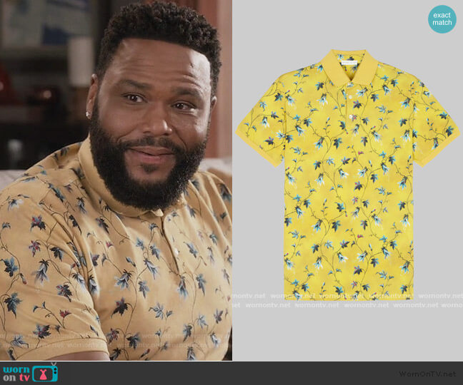 Floral Polo by Etro worn by Andre Johnson (Anthony Anderson) on Blackish