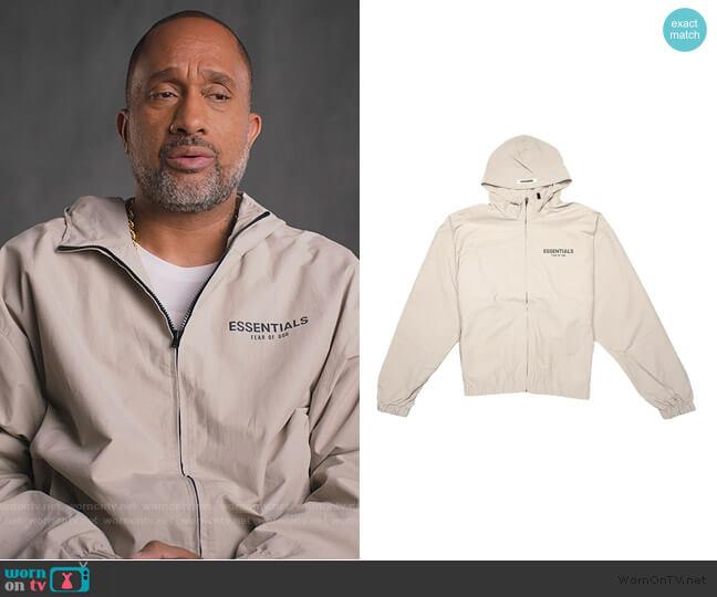 Fear of God Zip Anorak Windbreaker Jacket by Essentials worn by Kenya Barris  on BlackAF