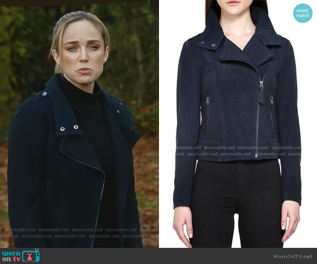 Freda Perfecto Jacket by Mackage worn by Sara Lance (Caity Lotz) on Legends of Tomorrow