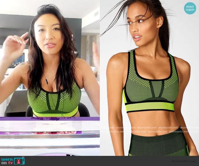 Bianca Seamless Sports Bra by Fabletics worn by Jeannie Mai  on The Real