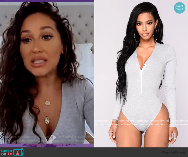 Matilda Ribbed Bodysuit by Fashion Nova worn by Adrienne Houghton  on The Real