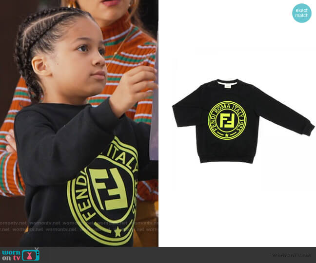 Crewneck Sweatshirt by Fendi worn by Ravi Cabot-Conyers on BlackAF worn by Kam Barris (Ravi Cabot-Conyers) on BlackAF