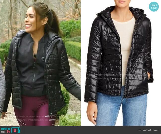 Reflective-Trim Puffer Jacket by Fillmore worn by Cristal Jennings (Daniella Alonso) on Dynasty