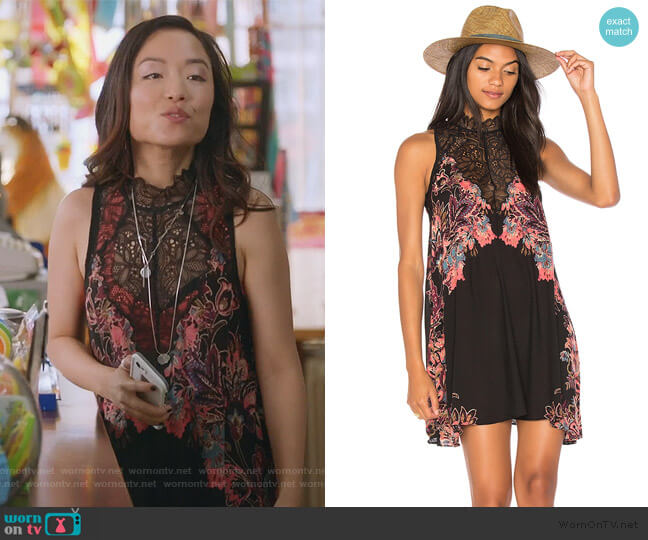 rsha Printed Slip by Free People worn by Janet (Andrea Bang) on Kims Convenience