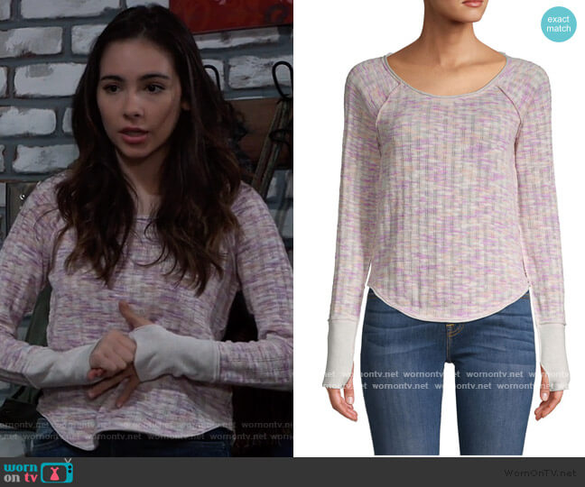 Spaced Out Top by Free People worn by Molly Lansing-Davis (Haley Pullos) on General Hospital
