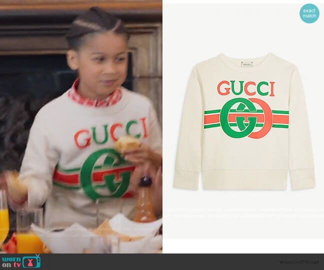 GG logo Jumper by Gucci worn by Ravi Cabot-Conyers on BlackAF worn by Kam Barris (Ravi Cabot-Conyers) on BlackAF