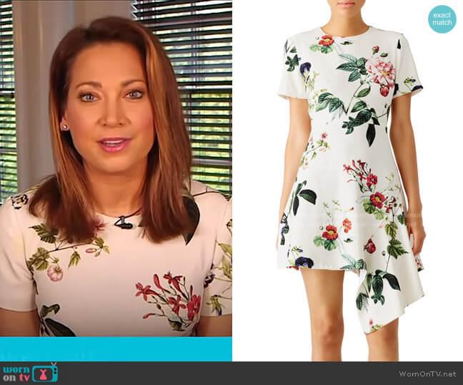Garden Floral Asymmetrical Dress by Stylestalker worn by Ginger Zee  on Good Morning America