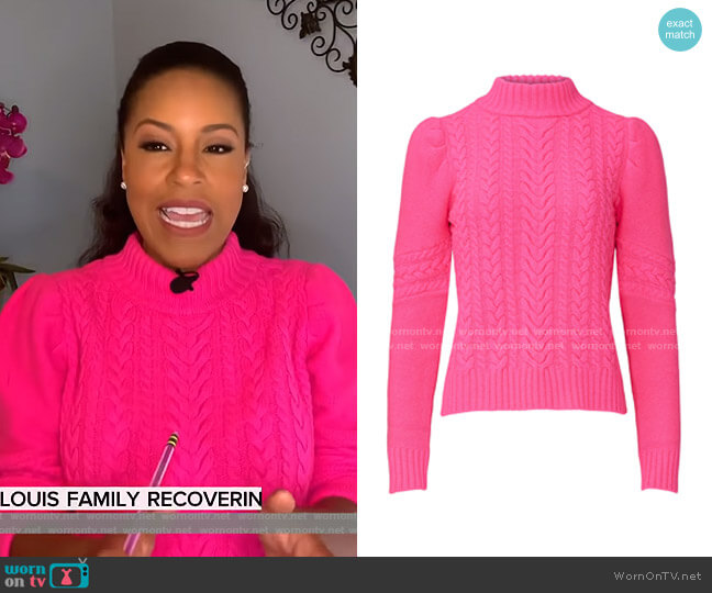 Isabella Cable Knit Sweater by Generation Love worn by Sheinelle Jones  on Today