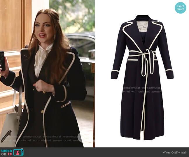 The Belinda Coat by Giuliva Heritage worn by Fallon Carrington (Elizabeth Gillies) on Dynasty