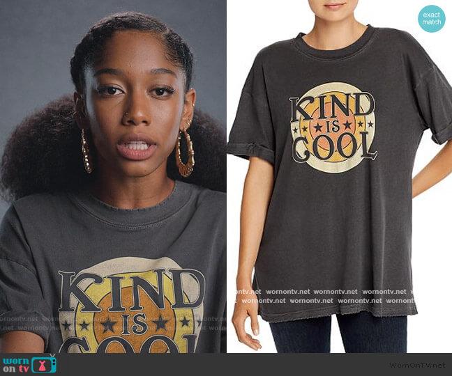 Kind Is Cool Retro Tee by Girl Dangerous worn by Drea Barris (Iman Benson) on BlackAF