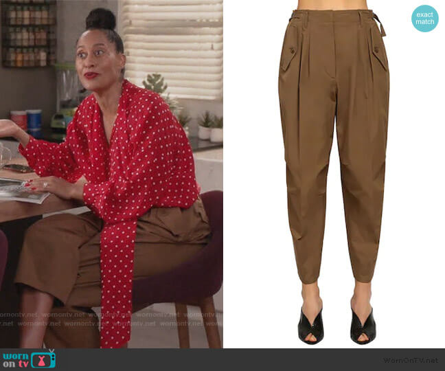 High Waist Cotton Cargo Pants by Givenchy worn by Rainbow Johnson (Tracee Ellis Ross) on Blackish