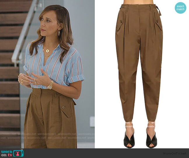 High Waist Cotton Cargo Pants by Givenchy worn by Joya Barris (Rashida Jones) on BlackAF