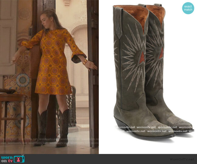 Wish Star suede knee-high boots by Golden Goose worn by Villanelle (Jodie Comer) on Killing Eve