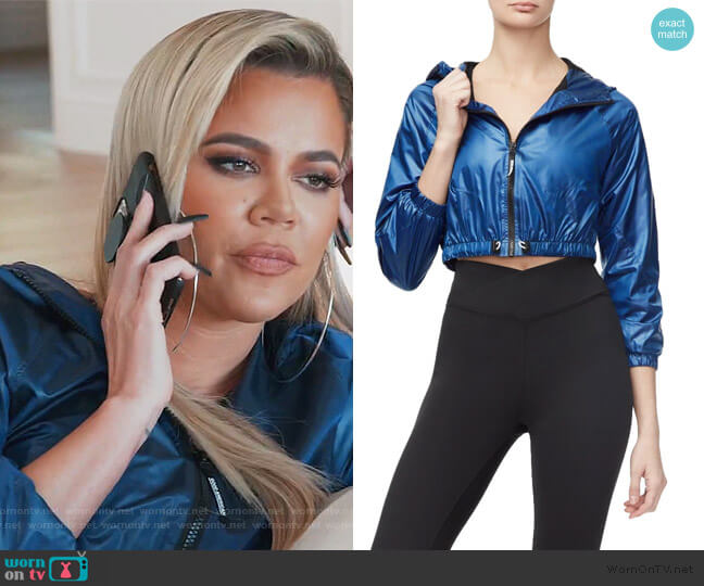 The Go the Distance Jogger Jacket by Good American worn by Khloe Kardashian  on Keeping Up with the Kardashians
