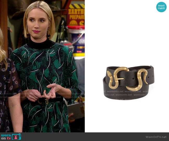 Gucci Snake Buckle Belt worn by Mandy Baxter (Molly McCook) on Last Man Standing