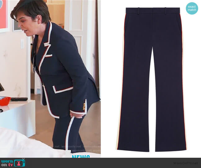 Viscose bootcut pant by Gucci worn by Kris Jenner  on Keeping Up with the Kardashians