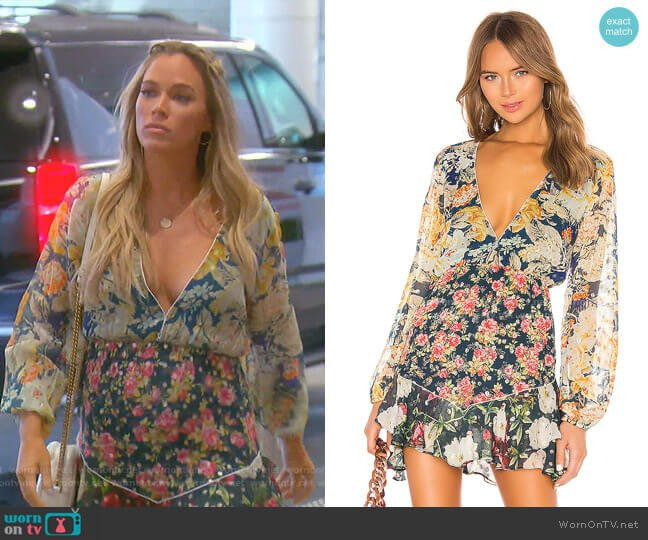 Della Dress by Hemant and Nandita worn by Teddi Mellencamp Arroyave  on The Real Housewives of Beverly Hills