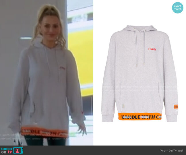 CTNMB Print Cotton Hoodie by Heron Preston worn by Dorit Kemsley  on The Real Housewives of Beverly Hills