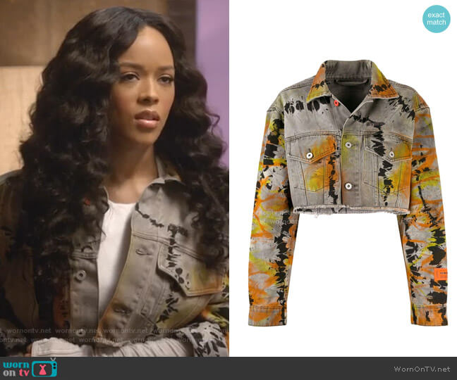 Cropped Denim Jacket by Heron Preston worn by Tiana Brown (Serayah McNeill) on Empire