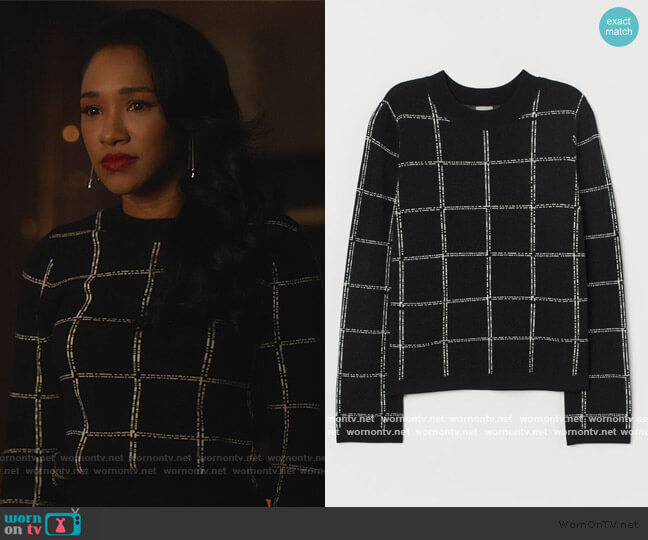 Fine-knit Sweater by H&M worn by Iris West (Candice Patton) on The Flash