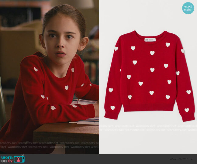 Fine-knit Cotton Sweater by H&M worn by Anna-Kat Otto (Julia Butters) on American Housewife