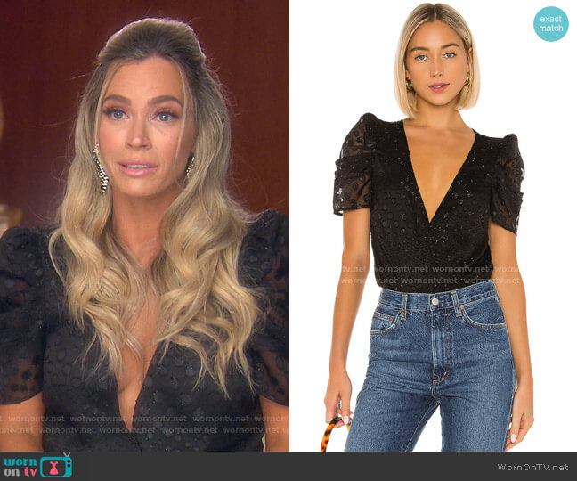 Nicolette Bodysuit by House of Harlow 1960 worn by Teddi Mellencamp Arroyave  on The Real Housewives of Beverly Hills