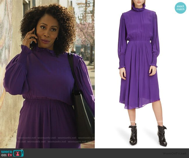 Yescott Asymmetrical Hem Dress by Isabel Marant Etoile worn by Lola Carmichael (Simone Missick) on All Rise