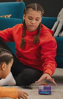 Izzy's red hoodie on BlackAF