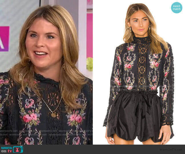 Jacque Top by LoveShackFancy worn by Jenna Bush Hager  on Today