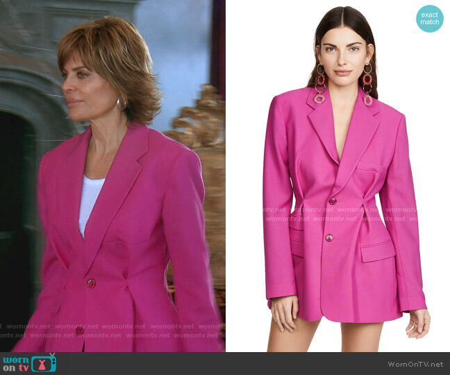 La Veste Raffaella Blazer by Jacquemus worn by Lisa Rinna  on The Real Housewives of Beverly Hills