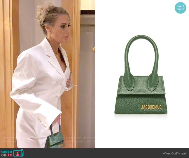 Le Chiquito Mini Leather Bag by Jacquemus worn by Dorit Kemsley  on The Real Housewives of Beverly Hills