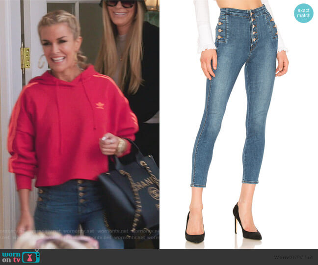 Natasha Sky High Skinny Cropped Jean by J Brand worn by Tinsley Mortimer  on The Real Housewives of New York City