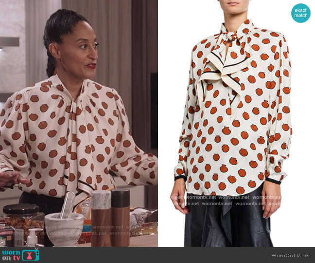 Ancient Anecdotes Top by Johanna Ortiz worn by Rainbow Johnson (Tracee Ellis Ross) on Blackish