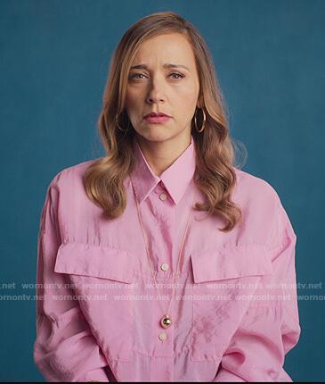 Joya's pink oversized blouse on BlackAF