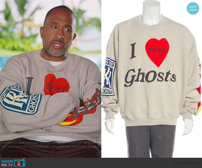 Kids See Ghosts Sweatshirt by Kanye West worn by Kenya Barris  on BlackAF