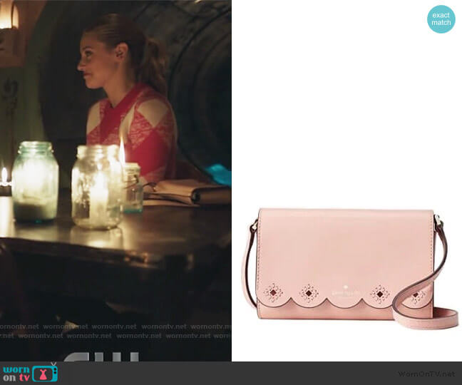 Magnolia Eyelet Crossbody Bag by Kate Spade worn by Betty Cooper (Lili Reinhart) on Riverdale