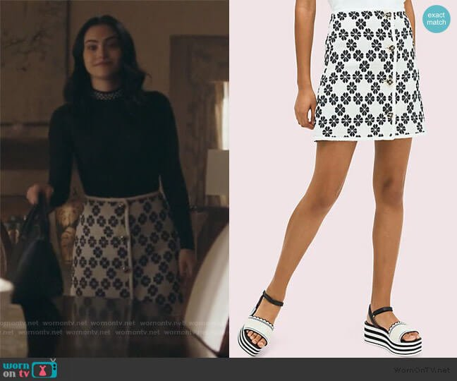 Space Tweed Skirt by Kate Spade worn by Veronica Lodge (Camila Mendes) on Riverdale